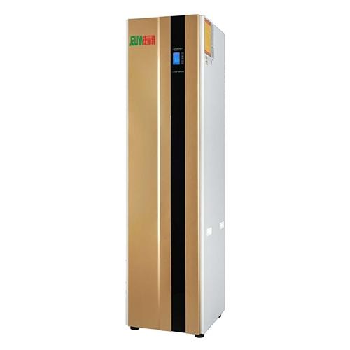 空气能热水器把空气中的热量通过冷媒搬运到水中